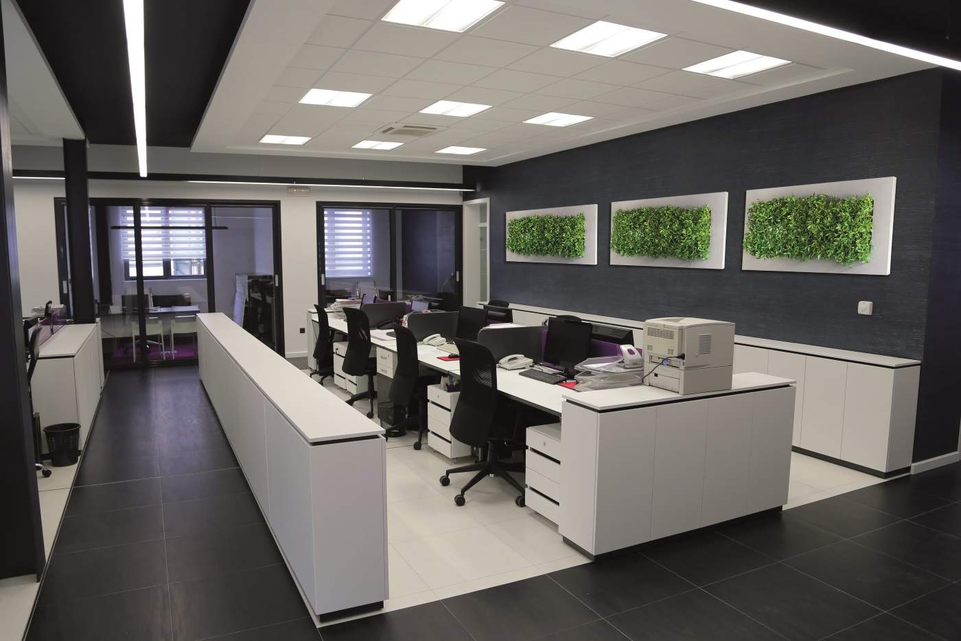 Plantenschilderij op kantoor