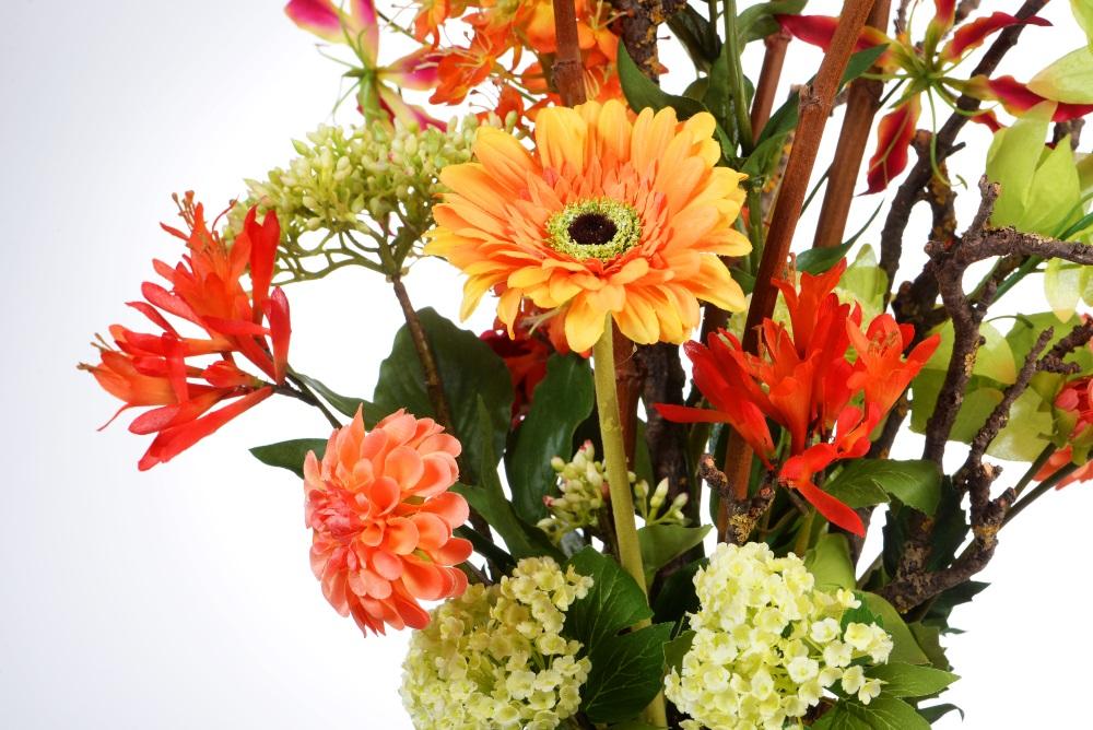 Sfeerdecoratie interieurbeplanting sfeer oranje