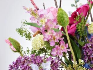 Sfeerdecoratie interieurbeplanting sfeer paars