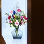 Sfeerdecoratie in heldere vaas