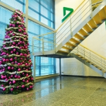 Kerst kerstboom ingang Interieurbeplanting