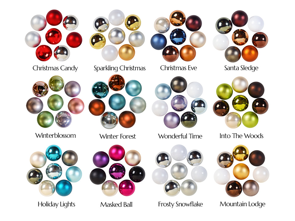 Verschillende kleurcombinaties voor kerst