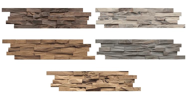 Beachwood diverse houtsoorten