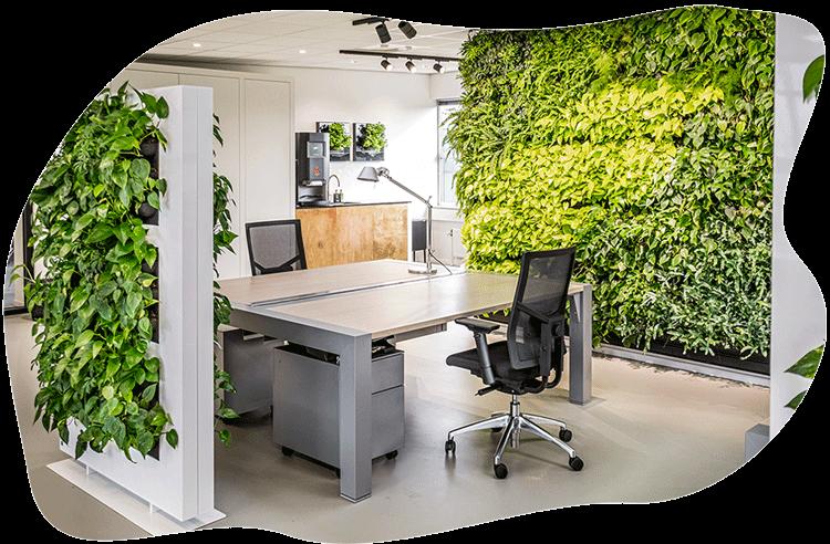 Biophilia planten elementen kantoor
