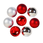 Christmas Candy: Rood / Zilver / Wit