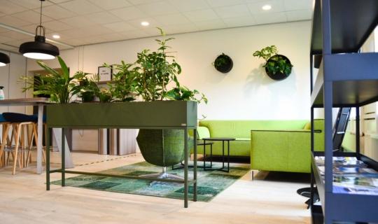 Roomdivider stalen plantenbak
