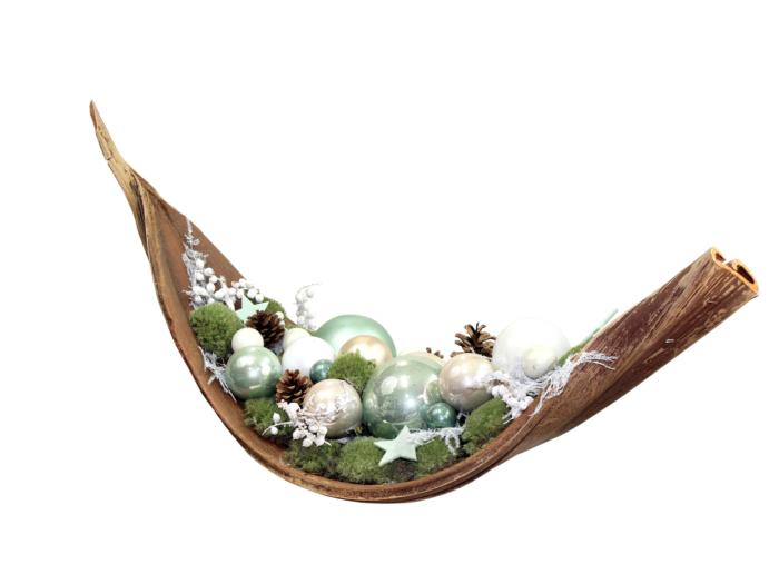 Kerstsfeerdecoratie gedecoreerd palmblad