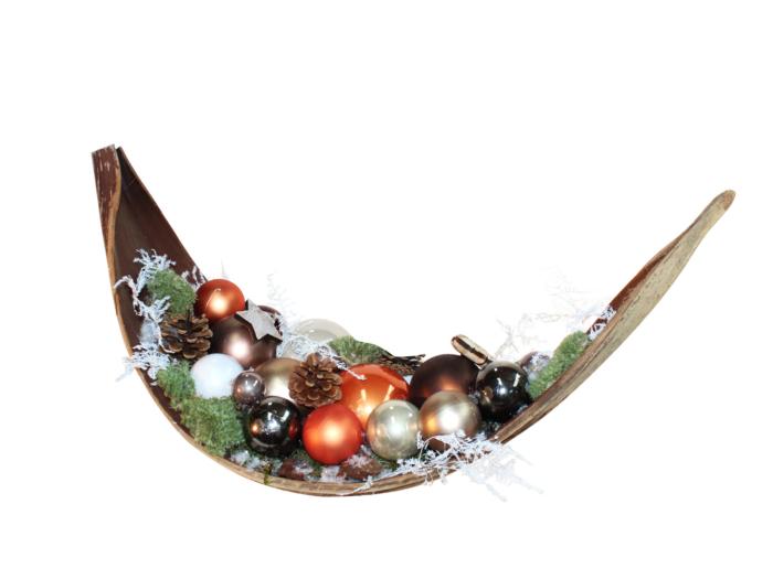 Kerstdecoratie gedecoreerd palmblad