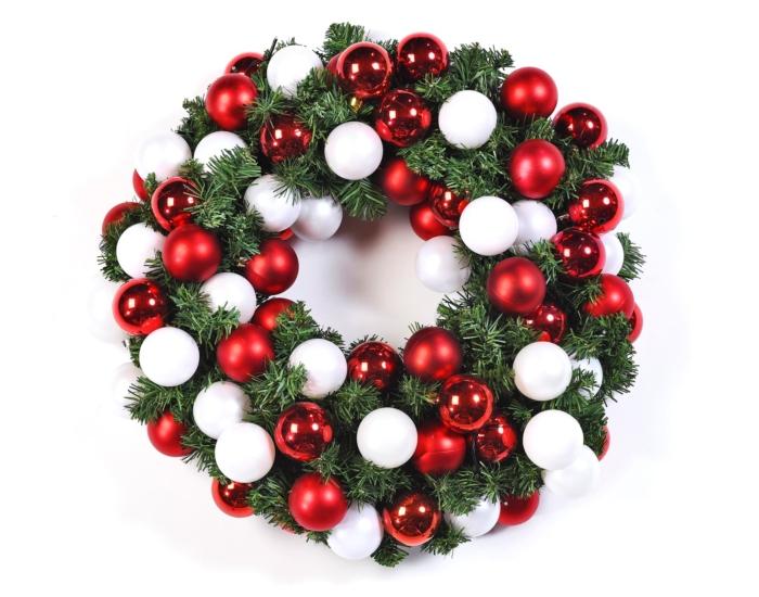 Classic kerstkrans huren bij Ten Brinke Interieurbeplanting