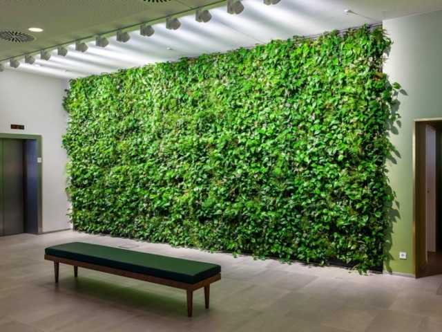 Binnen plantenwand mobilane