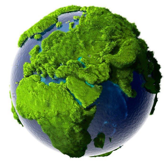 De aarde groen