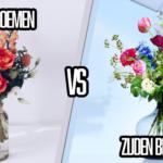 Kunstzijde bloemabonnement of Verse bloemenabonnement