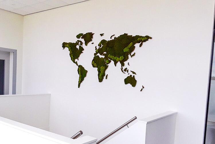 Mos wereldkaart